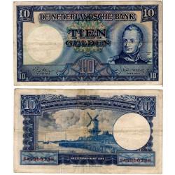 (83) Países Bajos. 1949. 10 Gulden (BC+)