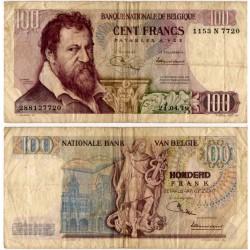 (134b) Bélgica. 1970. 100 Francs (BC)