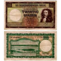 (76) Países Bajos. 1945. 20 Gulden (BC+)