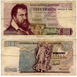 (134a) Bélgica. 1966. 100 Francs (BC)