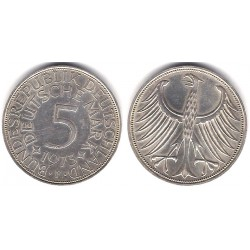 (112.1) Alemania. 1973(F). 5 Mark (MBC+) (Plata)