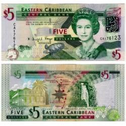 (47) Estados Orientales Caribeños. 2008. 5 Dollars (SC)