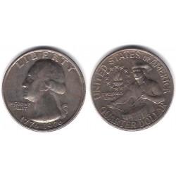 (204) Estados Unidos de América. 1976. Quarter Dollar (BC+)