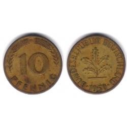 (108) Alemania. 1950(D). 10 Pfennig (BC)