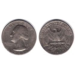 (A164a) Estados Unidos de América. 1983(D). Quarter Dollar (BC+)