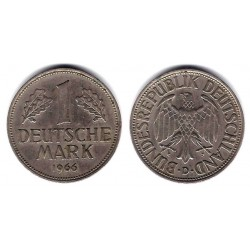 (110) Alemania. 1966(D). 1 Mark (MBC)
