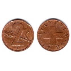 (47) Suiza. 1954(B). 2 Rappen (BC)