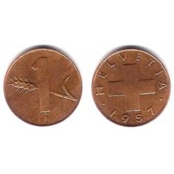 (46) Suiza. 1957. 1 Rappen (BC)