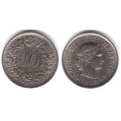 (27) Suiza. 1968. 10 Rappen (EBC)