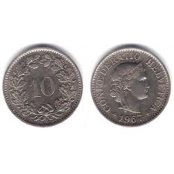 (27) Suiza. 1967. 10 Rappen (SC)