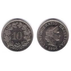 (27) Suiza. 1990. 10 Rappen (SC)