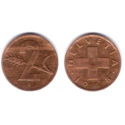 (47) Suiza. 1948(B). 2 Rappen (BC)