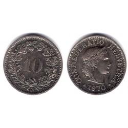 (27) Suiza. 1970. 10 Rappen (EBC)