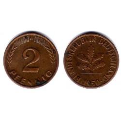 (106) Alemania. 1950(G). 2 Pfennig (MBC-)
