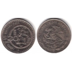 (486) Estados Unidos Mexicanos. 1981. 20 Pesos (MBC+)