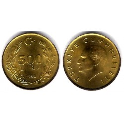 (989) Turquia. 1990. 500 Lira (SC)