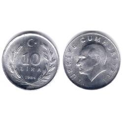 (964) Turquia. 1984. 10 Lira (SC)