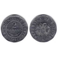 Bolivia. 1991. 2 Bolivianos (MBC+)