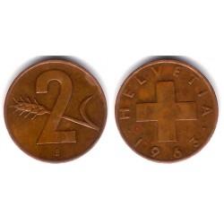 (47) Suiza. 1963(B). 2 Rappen (BC+)