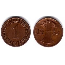 (37) Imperio Alemán (Weimar). 1934. 1 Pfennig (MBC)