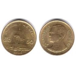 (Y203) Tailandia. 2000(2543). 50 Satang (EBC)