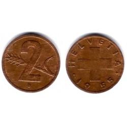 (47) Suiza. 1955(B). 2 Rappen (BC)