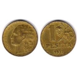 España (II República). 1937. 1 Peseta (MBC)