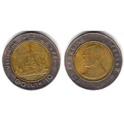 (Y227) Tailandia. 2007(2550). 10 Baht (BC+)