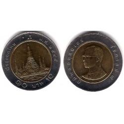 (Y227) Tailandia. 2002(2545). 10 Baht (EBC)