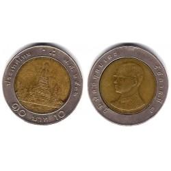 (Y227) Tailandia. 1989(2532). 10 Baht (BC+)