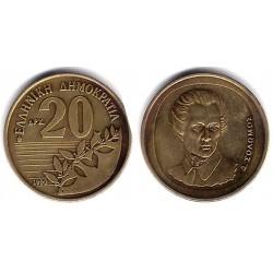(154) Grecia. 1990. 20 Drachma (MBC)