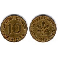 (108) Alemania. 1950(J). 10 Pfennig (MBC)