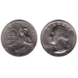 (204) Estados Unidos de América. 1976. Quarter Dollar (MBC+)