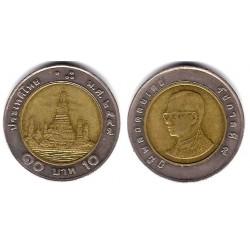 (Y227) Tailandia. 2006(2549). 10 Baht (BC+)