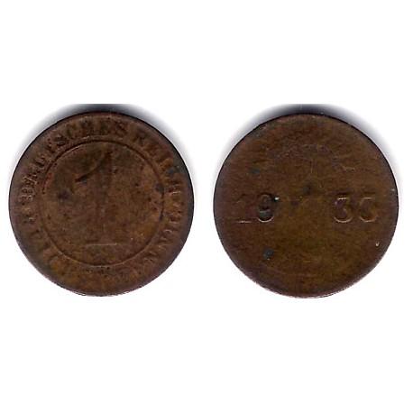 (37) Imperio Alemán (Weimar). 1933(A). 1 Pfennig (RC)