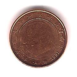 Bélgica. 2001. 1 Céntimo (SC)