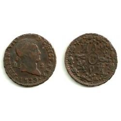 Fernando VII. 1829. 2 Maravedi (MBC) Ceca de Segovia