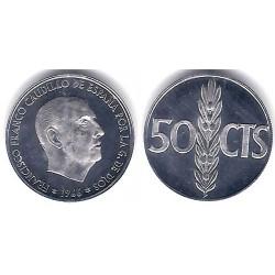 Estado Español. 1966*(19-75). 50 Céntimos (Proof)