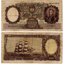(274) Argentina. Sin Fecha. 1000 Pesos (BC) Pequeñas roturas margenes