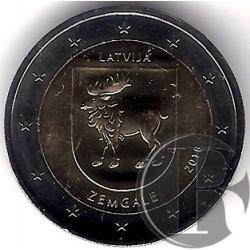 Letonia. 2018. 2 Euro (SC) Zemgale