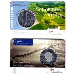 Países Bajos. 2018. 5 Euro (SC) (Plata) Schokland