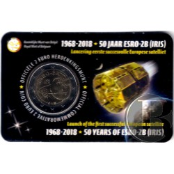 Bélgica. 2018. 2 Euro (SC) Primer Satélite Europeo