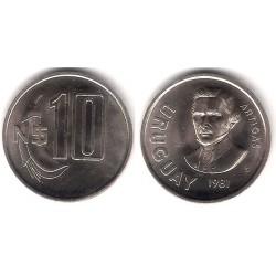 (29) Uruguay. 1981. 10 Nuevos Pesos (EBC)