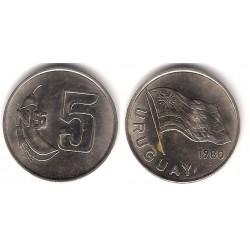 (75) Uruguay. 1980. 5 Nuevos Pesos (MBC)