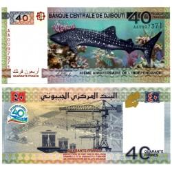(46) Djibouti. 2017. 40 Francs (SC)