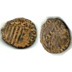 Carlos I. 1516-58. ½ Sou / Sueldo (BC-) Ceca de Perpiñán
