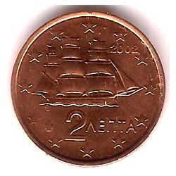 Grecia. 2002. 2 Céntimos (SC)