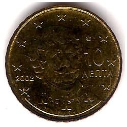 Grecia. 2002(F). 10 Céntimos (SC)