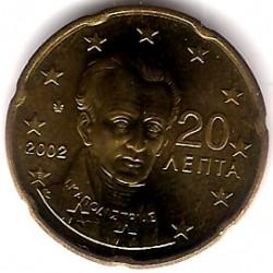 Grecia. 2002(E). 20 Céntimos (SC)