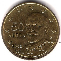 Grecia. 2002. 50 Céntimos (SC)